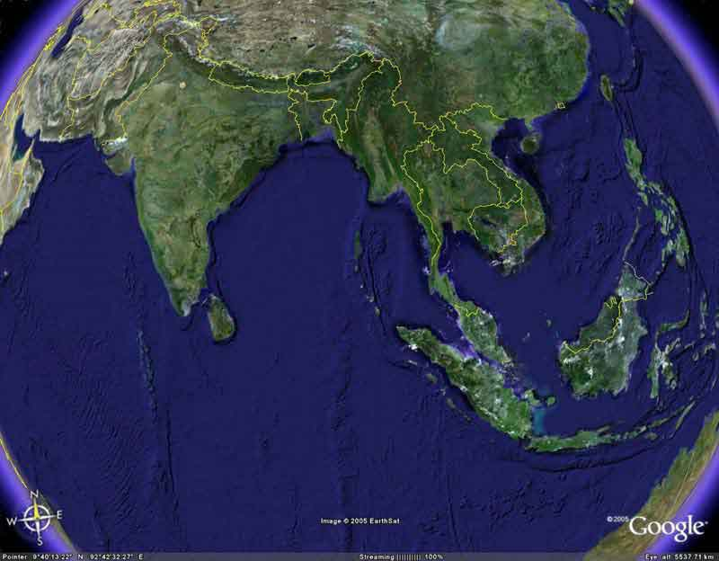 An Earth.Google view of Asia